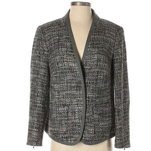 Escada Gray Wool Blazer Jacket